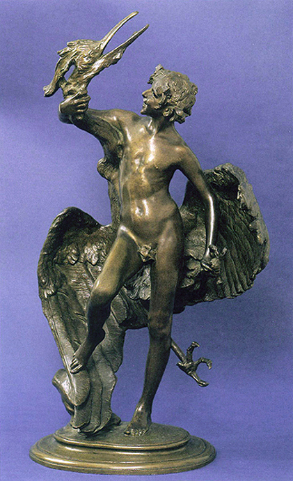 Young Faun with Heron